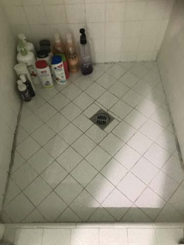 Photo of cleaned shower floor