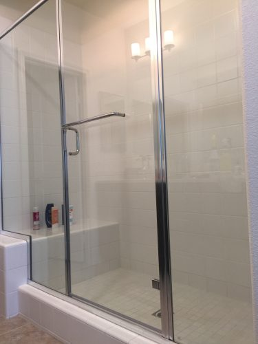 Photo of clean shower stall