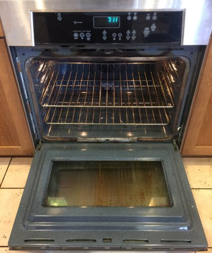 Photo of oven after cleaning